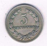 5 CENTAVOS 1956  EL SALVADOR /3974/ - El Salvador