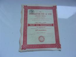 LA CARBURATION PAR LE VIDE (procédés Bellem) 1921 - Non Classificati