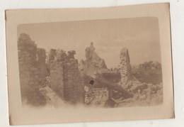 Photographie Originale.Guerre De 14/18. Belgique Ruines Sur La Route De Ootddunkerque Nieuport Ville. Août 1918 - Guerra, Militares