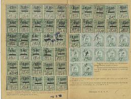 1) 1923 Carte Complète Retraites Ouvrières & Paysannes / Timbres N° 53 X 41 / N° 73 X 11 / Mlle Boniface à Montigny 57 - Alsace-Lorraine