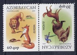 Europa CEPT 2010 Azerbaïdjan - Aserbaidschan - Azerbaijan Y&T N°679h Et 680b - Michel N°791Do Et 792Du ***- Se Tenant Tb - 2010