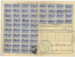 3) 1897 Carte Complète Retraites Ouvrières & Paysannes / Timbre N° 56 X 2 / Mairie Wolsdorf Bezire (Volstroff Allemagne) - Alsace-Lorraine