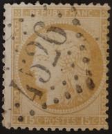 55 (cote 5 €) Obl BUREAU SUPPLEMENTAIRE GC 4526 Villers-sur-mer (13 Calvados ) Ind 7 - 1849-1876: Classic Period