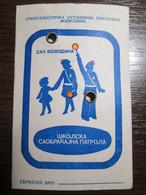 1983 Yugoslavia School Traffic Patrol ID Card - Collections
