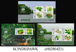 SRI LANKA - 2020 WORLD WETLANDS DAY / BIODIVERSITY SET OF 3 MIN/SHT MNH - Sri Lanka (Ceylon) (1948-...)