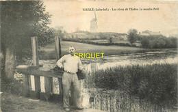 44 Riaillé, Les Rives De L'Erdre, Le Moulin Pelé, Homme Au 1er Plan, Affranchie 1908 - Sonstige Gemeinden