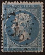 22a Obl BUREAU SUPPLEMENTAIRE GC 4552 Fos (30 Haute Garonne ) Ind 11 - 1849-1876: Periodo Clásico