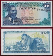 Kenya 20 Shillings 1978 Pick 17 XF\AU (NT#01) - Kenya