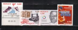 Monaco 2006 Yvert 2528 2531 2533 2534 Neufs** MNH (AB30) - Unused Stamps