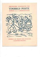 LUXEMBOURG ENCART PREMIERES EMISSIONS APRES LA LIBERATION 1944 - Marcofilie - EMA (Print Machine)
