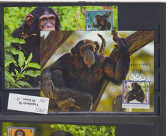 WWF Issue Michel Cat.No. Sierra Leone Issued 2012 Monkey MC - Tarjetas – Máxima