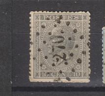 COB 17 Oblitéré LP 270 NIEUPORT - 1865-1866 Perfil Izquierdo