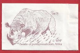 NL.- WNF. ZWARTE OF PUNTLIPNEUSHOORN, AFRIKA. Piers '79. Suiker. Sucre. Sugar. Zucker. Zucchero - Azúcar