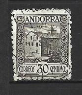 ANDORRA CORREO ESPAÑOL SELLO USADO  ALGUNOS DIENTES CORTOS  Nº 21( S.1.B) - Used Stamps