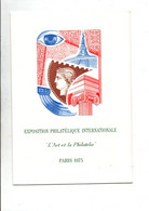 ENCART FDC BLOC ARPHILA 75 - Commemorative Postmarks
