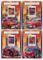 DJIBOUTI 2016 ** Fire Engines Feuerwehr Camions De Pompiers 4S/S - OFFICIAL ISSUE - DH1722 - Firemen