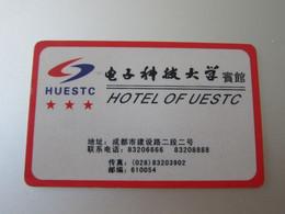 UESTC( University) Hotel Chengdu, China - Hotel Keycards