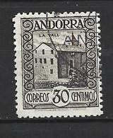 ANDORRA CORREO ESPAÑOL SELLO USADO  MUY BONITO PERFECTO  SIENDO DE LA  ÉPOCA   Nº 21  ( S.1.B) - Used Stamps