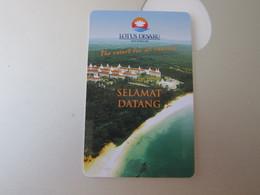 Lotus Desaru Beach Resort, Malaysia, Backside Inverted Text - Hotel Keycards