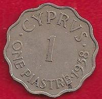 CHYPRE 1 PIASTRE - 1938 - Cyprus