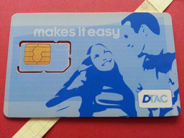 THAILAND SIM GSM DTAC Makes It Easy - With Numbers USIM RARE Used (BH1219b5 - Thaïlande