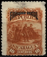 Nicaragua 1892 Mi D24 Columbus Looks Out For Land - Nicaragua