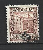 ANDORRA CORREO ESPAÑOL SELLO USADO  COLOR MAS FUERTE   Nº 15  ( S.1.B) - Used Stamps