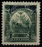 Nicaragua 1895 Mi D57 Triangle Emblem On The Ovoid-blue Overprint - Nicaragua