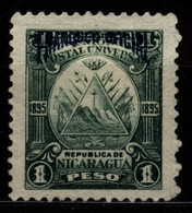 Nicaragua 1895 Mi D58 Triangle Emblem On The Ovoid-blue Overprint - Nicaragua