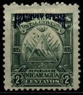Nicaragua 1895 Mi D59 Triangle Emblem On The Ovoid-blue Overprint - Nicaragua