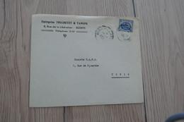 Tunisie Tunisia Lettre Pub Truchetet Et Tansini Bizerte Pour Tunis 1 TP Anciens 1954 - Tunisia
