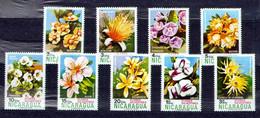 Nicaragua 1974 Mi 1778-1786 Wild Flowers - MNH - Nicaragua