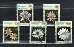 Nicaragua 1981 Mi 2201-2205 Aquatic Flowers - CTO - Nicaragua