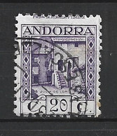ANDORRA CORREO ESPAÑOL SELLO USADO  TALADREO MUY DESPLAZADO   Nº  34  ( S.2) - Used Stamps