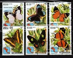 Nicaragua 1982 Mi 2254-2259 Butterflies - CTO - Nicaragua