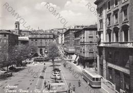 CARTOLINA  ANCONA,MARCHE,PIAZZA ROMA E VIA CARDUCCI,STORIA,CULTURA,MEMORIA,RELIGIONE,IMPERO ROMANO,VIAGGIATA 1967 - Ancona