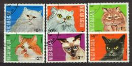 Nicaragua 1984 Mi 2482-2487 Cats - CTO - Nicaragua
