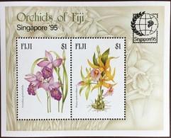 Fiji 1995 Singapore Orchids Minisheet MNH - Orchidee