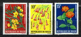 Niger 1964 Mi 61-63 Flowers - MNH - Niger (1960-...)