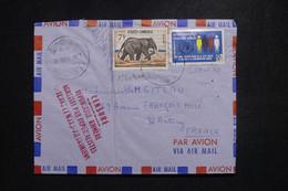 CAMBODGE / KHMÈRE - Griffe De Censure Sur Enveloppe De Phnom Penh En 1971 Pour La France - L 97511 - Kambodscha
