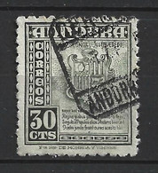 ANDORRA CORREO ESPAÑOL SELLO USADO  BONITO MATA SELLOS Nº  40  ( S..1.B) - Used Stamps