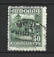 ANDORRA CORREO ESPAÑOL SELLO USADO  BONITO MATA SELLOS Nº  51  ( S..1.B) - Used Stamps