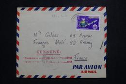 CAMBODGE / KHMÈRE - Griffe De Censure Sur Enveloppe De Battanbang Pour La France - L 97513 - Kambodscha