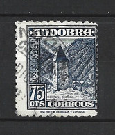 ANDORRA CORREO ESPAÑOL SELLO USADO  TALADRO MUY DESPLAZADO Nº  52  ( S. 1.B)) - Used Stamps