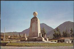 Ecuador - Quito - Monument Equator - 3x Nice Stamps - Ecuador
