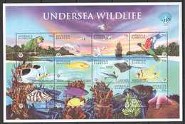 PK059 ANTIGUA & BARBUDA FISH & MARINE LIFE UNDERSEA WILDLIFE 1SH MNH - Vita Acquatica