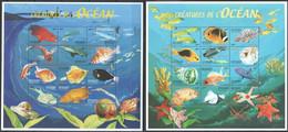PK063 DE DJIBOUTI FISH & MARINE LIFE CREATURES DE L'OCEAN 2SH MNH - Vita Acquatica
