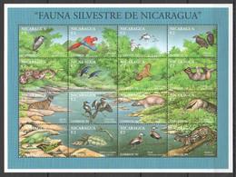 PK205 1994 NICARAGUA FAUNA SILVESTRE ANIMALS BIRDS REPTILES 1SH MNH - Autres