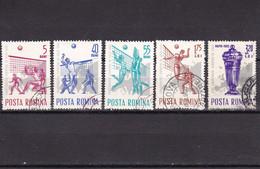 Roemenië / Romania - Romana 1963 Championnats D'Europe De Volley-ball, YV No 1937/1941 Et MI No 2184/2188 Used - Volleyball