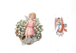 12178 - Lot De 2 Découpis Enfant Ange, - Angels